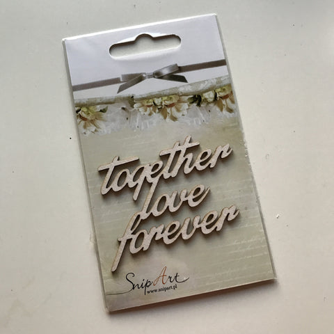 SnipArt Cut-out: Together Love Forever (Even)