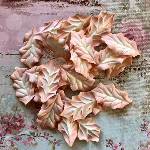Set of Mulberry Leaves - Holly Dusky Pink
