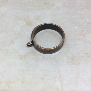 25mm Round Bezel - brass