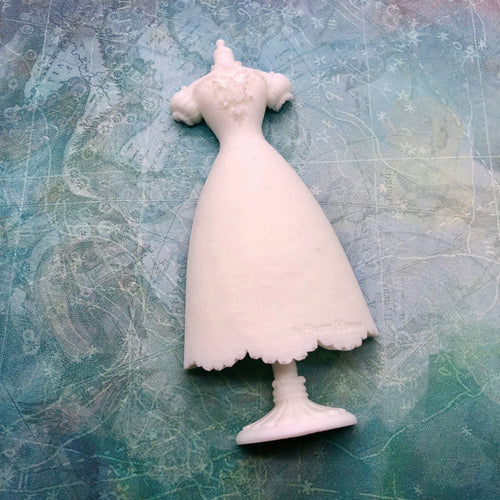 Dress on a dressmaker form