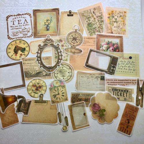 Junk Journalling Vintage Receipts Pack