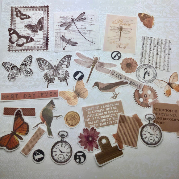 Junk Journalling Vintage Nature Pack