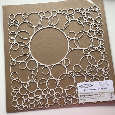 SnipArt 12x12 Chipboard Background - Large Circles