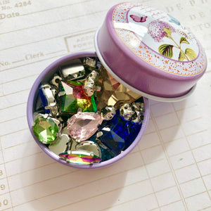 Crystal Tin with Real Glass Crystals