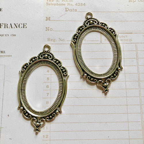 Ornate Bezels - Silver