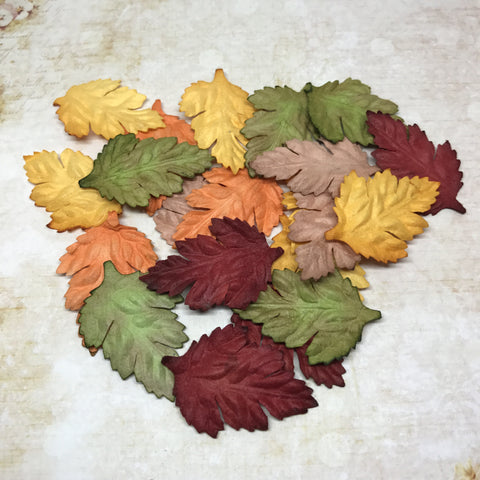 Set of Mulberry Leaves (Rose) - Autumn