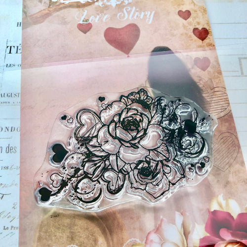 Love Story Rose Stamp