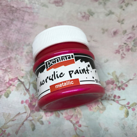 Pentart Metallic Paint - Magenta