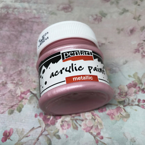 Pentart Metallic Paint - Rose