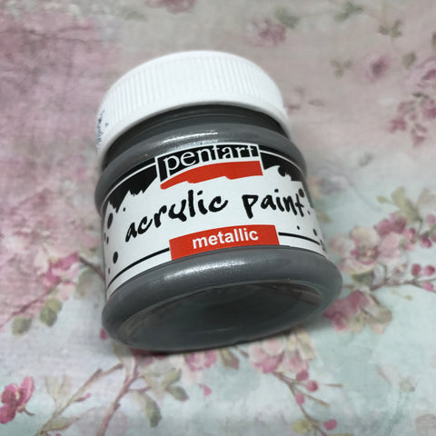 Pentart Metallic Paint - Silver