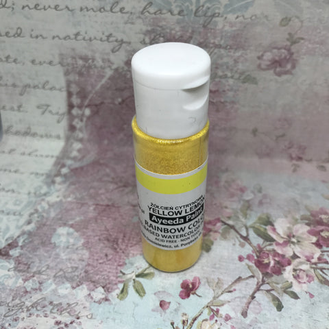 13Arts Rainbow Colours Watercolour Powder - Yellow Lemon (UK stock)