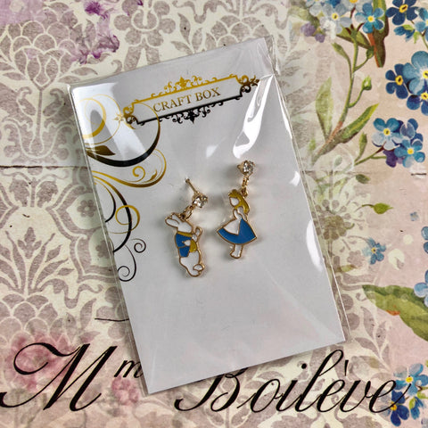 Alice Collection - Alice and Rabbit Earrings
