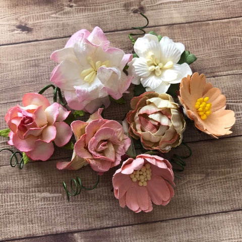 Craft Box Flowers - Peach Collection
