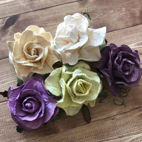 Craft Box Flowers - Purple Rose Collection