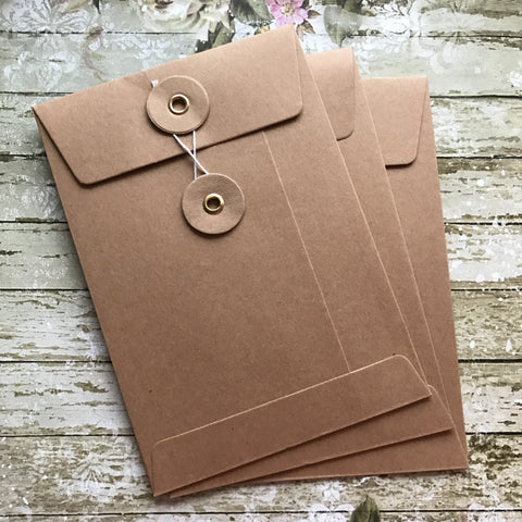 String and Washer Envelopes - Kraft