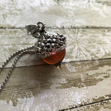 Load image into Gallery viewer, Acorn Pendant - Silver (no chain)