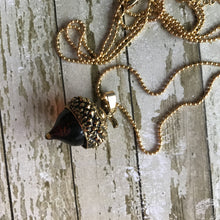 Load image into Gallery viewer, Acorn Pendant - Gold (no chain)