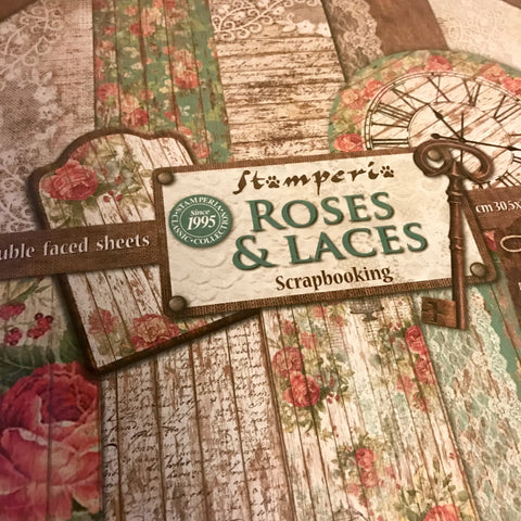 Stamperia 12x12 Paper Pack - Roses and Laces