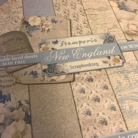 Stamperia 12x12 Paper Pack -New England