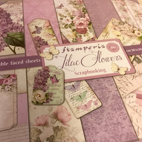Stamperia 12x12 Paper Pack -Lilac Flowers