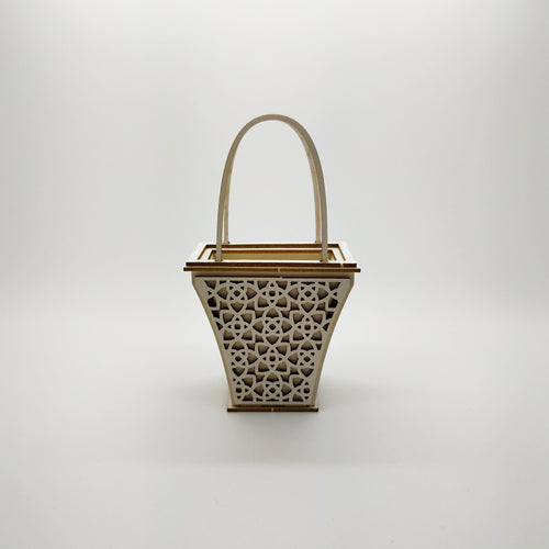 SnipArt - 3D 5.5cm flower basket - requires assembly (M)