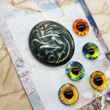 August Replay - Craft Box Mermaids and Dragons 6 assorted cabochons