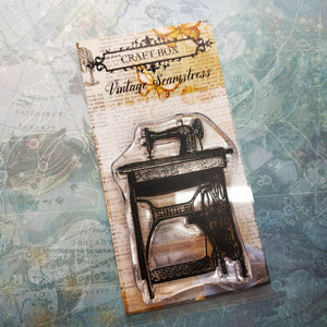 September 2018 Replay - Vintage Seamstress Singer sewing machine stamp