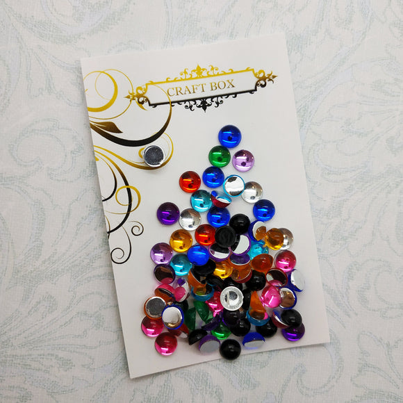6mm acrylic multicoloured dew drops