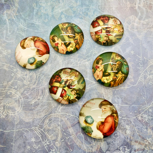 Christmas Glass Cabochons