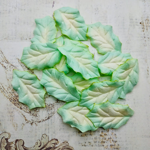 Set of Mulberry Leaves - Holly Bright Green