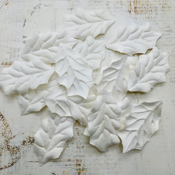 Set of Mulberry Leaves - Holly White