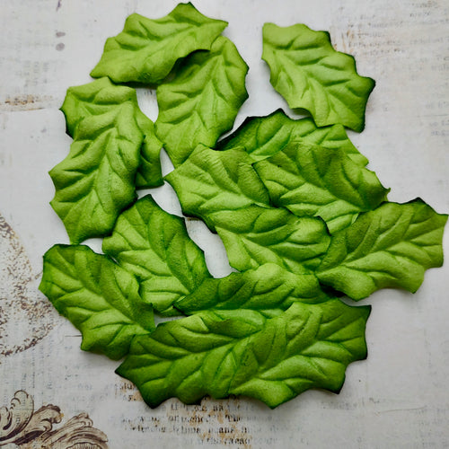 Set of Mulberry Leaves - Holly Green