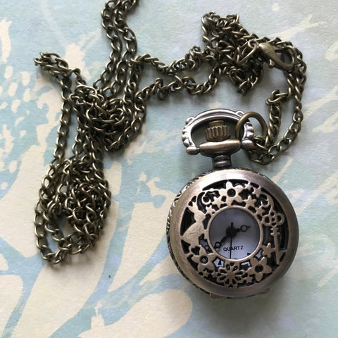 Vintage Pocket Watch - Key & Rabbit