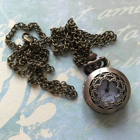 Vintage Pocket Watch - Small (Scallop)