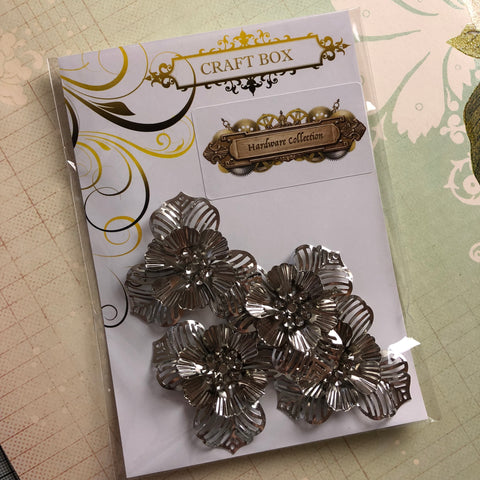 Hardware Collection - Filigree Flowers Silver