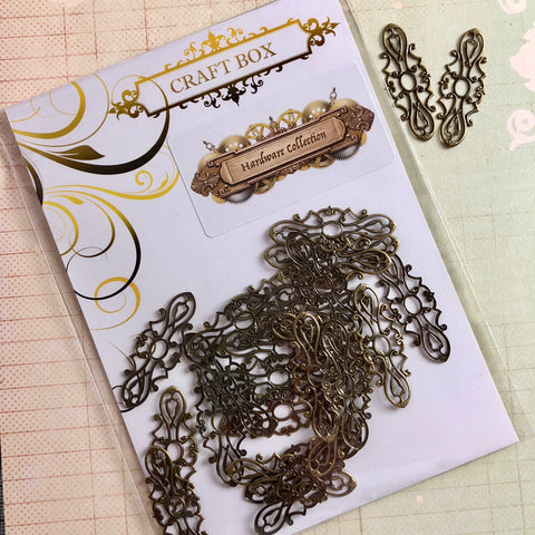 Hardware Collection - Tiny Brass Filigree