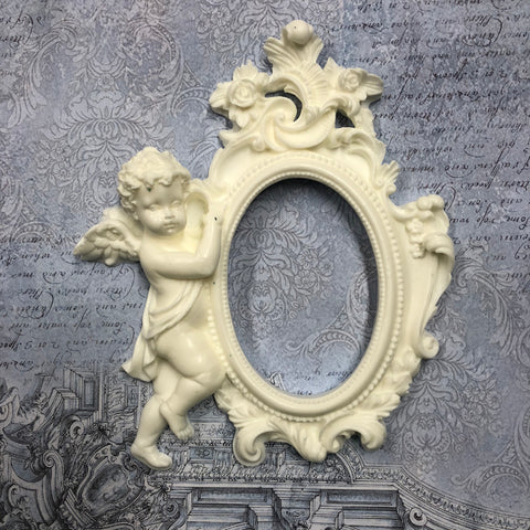 Resin Large Frame with Cherub