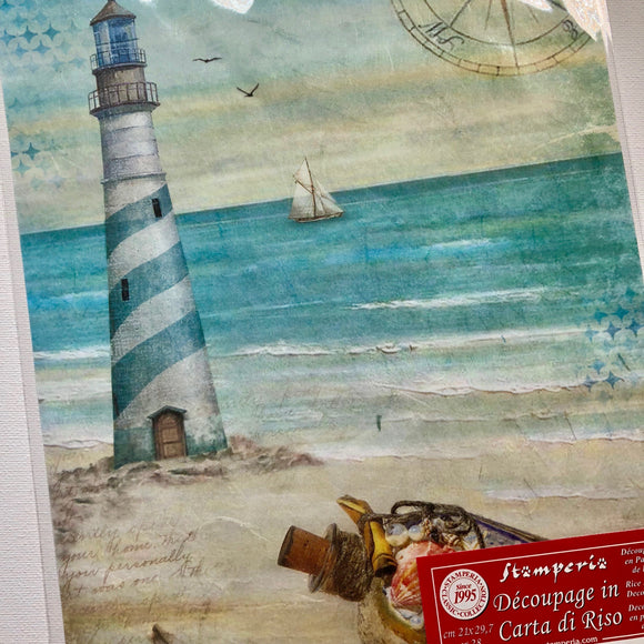 Stamperia Rice Paper A4 - Lighthouse