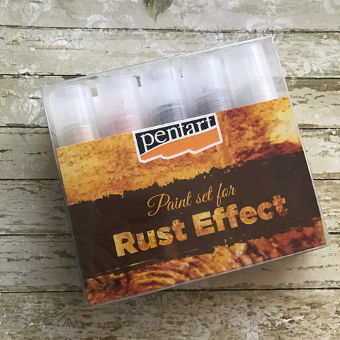 Pentart Paint Set - Rust Effect