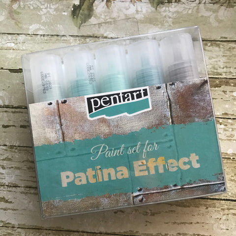 Pentart Paint Set - Patina Effect