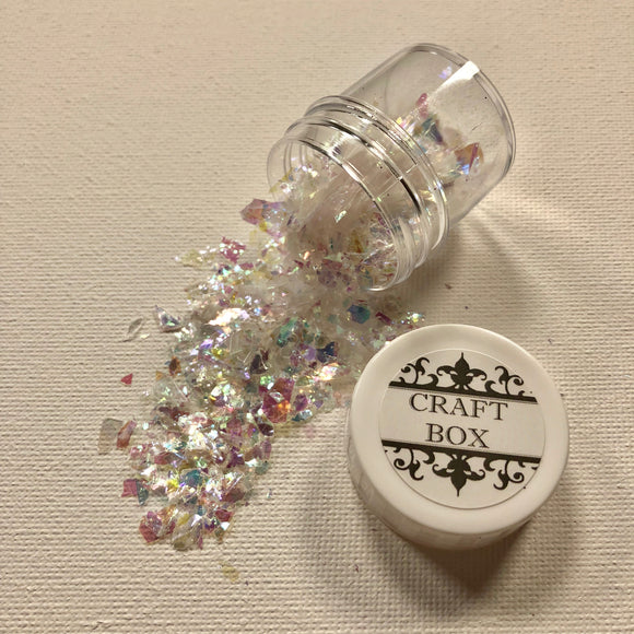 Craft Box Opal Flakes - Clear