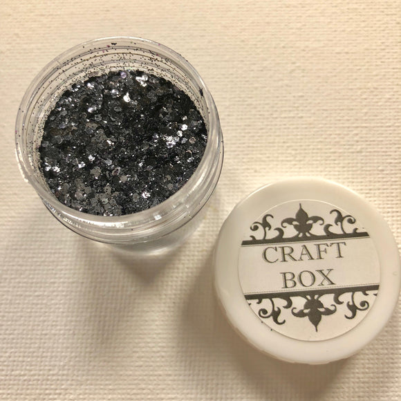 Craft Box Glitters - Mix Gunmetal