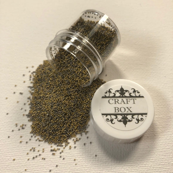 Craft Box Micro Beads Metal Mix - Yellow Gold and Gunmetal