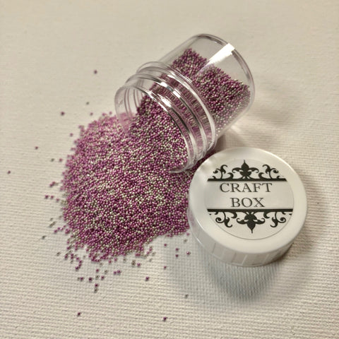 Craft Box Micro Beads Metal Mix - Strawberry Milkshake