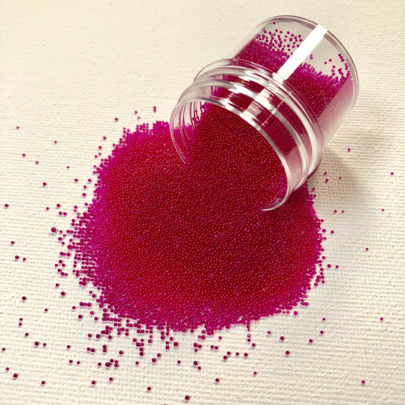Craft Box Micro Beads Translucent Fushia