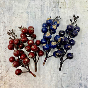 Christmas Berries - Red and Blue