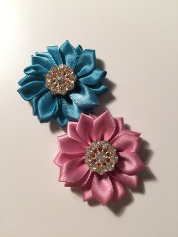 March Replay: Ribbon Flowers with Crystal Embellishment