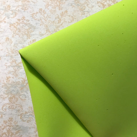 NEW COLOURS: Foamiran Flower Making Foam - Lime Green
