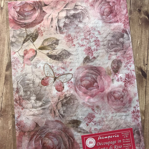 Stamperia Rice Paper A4 - Rose Garden