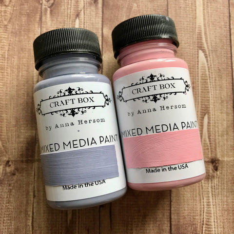 Craft Box by Anna Hersom - Mixed Media Paints Grey/Pink